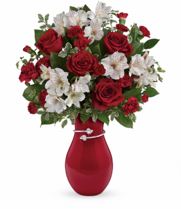 Pair Of Hearts  One-Sided Floral Arrangement