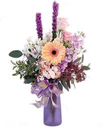 Pale Pastel Blooms Floral Arrangement