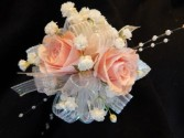 Pale Pink Sweetheart Roses Corsage