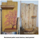 Pallet wood seasonal shelves Shelving