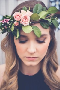 Palm Flower Crown Hair Piece