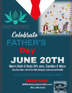 Pamper Daddy Day Deals Ofertas del Día de Mime Pa Deals for Father's Day in Bartlett, TN | NATURALLY CRAFT'D
