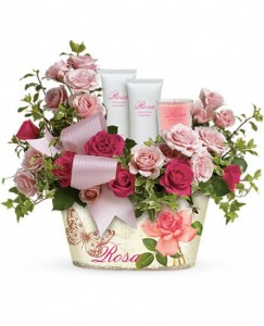 Pamper Me Basket Bouquet Item available local delivery only in Bristol, CT | DONNA'S FLORIST & GIFTS