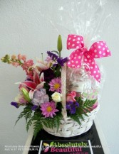 PAMPER ME BASKET OF LOVE Mother's Day Flowers Basket