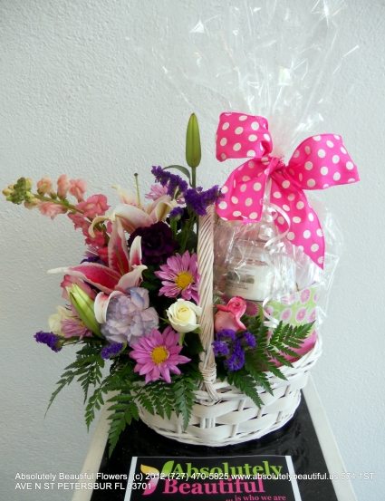 PAMPER ME BASKET OF LOVE Mother's Day Flowers Basket