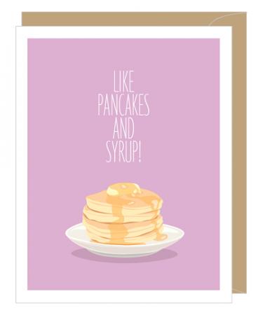 Pancakes Anniversary Greeting Card