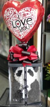 Panda Forever Love Bear Foam Rose Panda Bear & Balloon