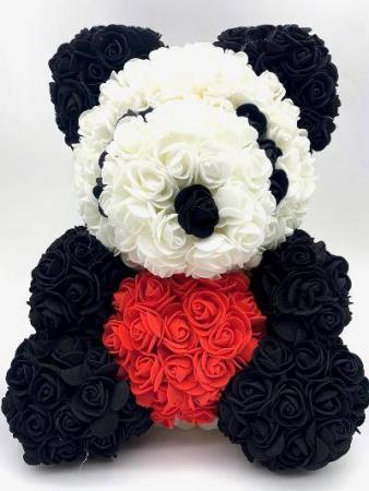 Panda Rose Bear With Box38cm Panda Rose Bear With Box38cm