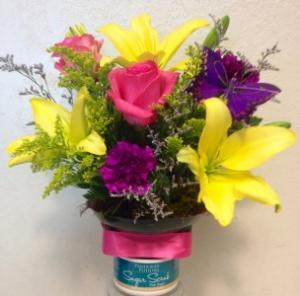PANDORA'S POTIONS BOUQUET Lucious body scrub with a floral topper in Moore, OK   A New Beginning Florist