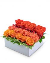 Papaya Pave Flower Arrangement