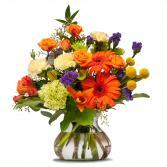 Papaya Whip Floral Arrangement