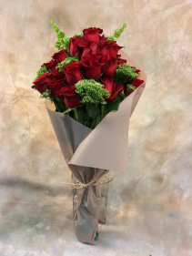 Paper Wrapped Roses Hand-tied