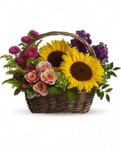 Park in a basket Flower Arrangement