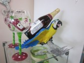 Parrot Wine Holder and Wine Glasses Gift Items