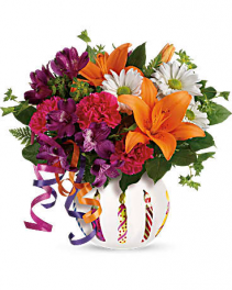 Party Starter Birthday Bouquet Hand-glazed glass Vase