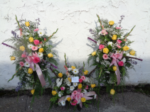 Pasel Floral Memory Display Arrangement