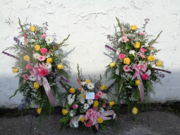 Pastel Floral Memory Display Arrangement