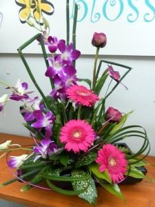 Passion Flowers Dish Arrangement