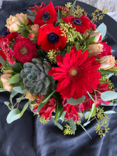 Passion Fire Red Flower Arrangement