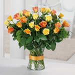 Passion For Life Vase of Roses