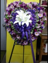 PASSIONATE HEART FUNERAL FLOWERS