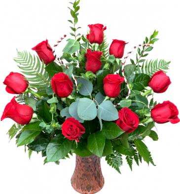 Passion in Bloom Valentine's Day Arrangement