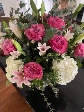 Passion in pink large vase arrangement