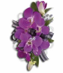 Passion In Purple Wrist Corsage