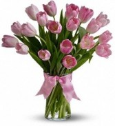 Passion Pink Tulips Vase Arrangement