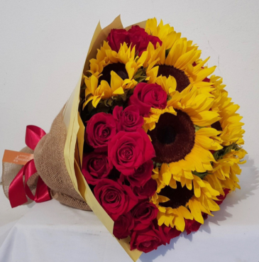 PASSION RED AND SUNFLOWERS! SPECIAL ORDEN