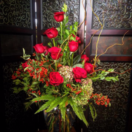 Passionate 18 Rose Arrangement
