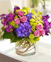 Passionate about Purple Vased Arrangement, Compact