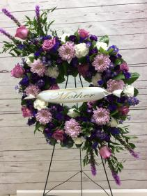 Passionate Goodbye Wreath