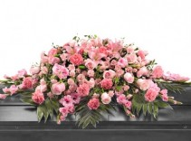 Passionate in Pink Casket Spray Casket Piece