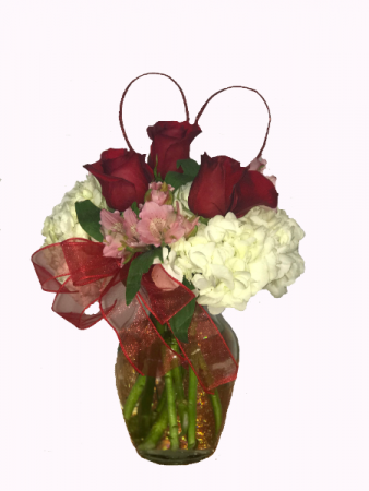 Passionate Love Roses and Hydrangea Bouquet