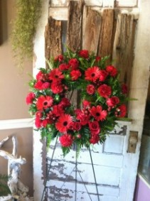 Passionate Memories Sympathy Wreath