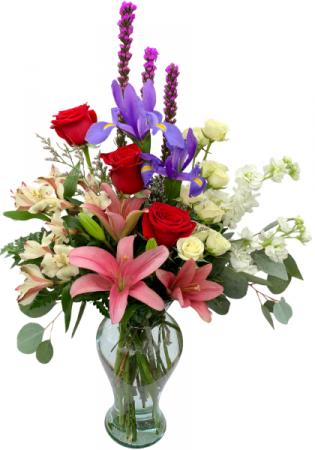 Passionate Petals Vase Arrangement