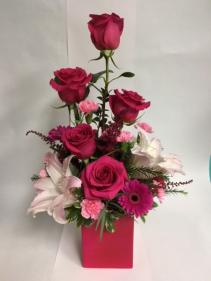 Passionate Pink Bouquet  valentines
