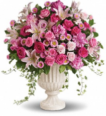 Passionate Pink Ceremony Arrangement