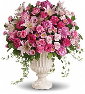 Passionate Pink Ceremony Arrangement