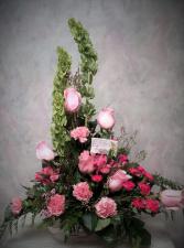 Passionate pink stylized pink arrangement