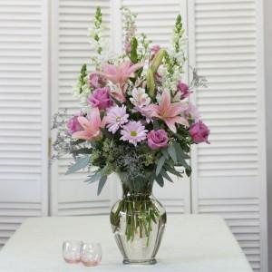 Passionate Pinks U0026 Purples Tall Vase Arrangement