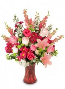 Passionate Pinks Vase Arrangement