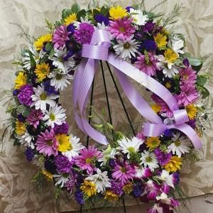 Passionate Purple Sympathy Wreath