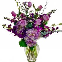 Passionate Purple Vase arrangement