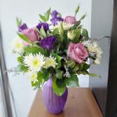 Passionate Purples Vased Arrangement