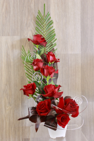 Passionate Red Arrangement  in Pittsboro, NC | Blossom Floral Artistry