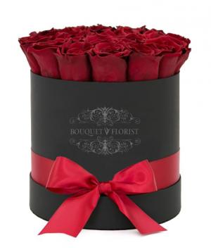 Passionate Roses Black Flower Box in Riverside, CA | RIVERSIDE BOUQUET FLORIST