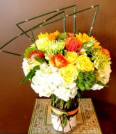 Passionate Sunset Bouquet