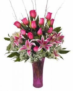 Personally  Pink vase arrangement